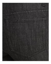 MICHAEL Michael Kors Black Grommet Lace-up Skinny Jeans