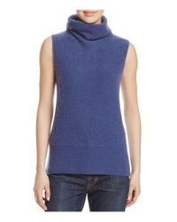 Vince | Blue Sleeveless Cashmere Sweater | Lyst