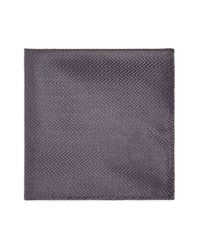 Armani - Purple Zigzag Pocket Square for Men - Lyst
