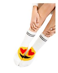 Pj Salvage - White Emoji Socks - Lyst