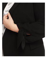 Lafayette 148 New York Black Bria Tie-cuff Jacket