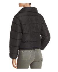 Glamorous - Black Puffer Jacket - Lyst