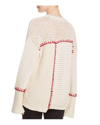 Elizabeth and James - Red Lois Mixed-stitch Sweater - Lyst