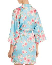 Flora Nikrooz - Blue Rosanna Satin Kimono - Lyst