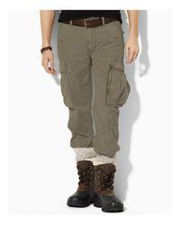 "Ralph Lauren - Green Polo ""santa Fe"" Poplin Cargo Pants for Men - Lyst"
