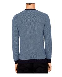 Ted Baker - Blue Coftini Triple Stitch Sweater for Men - Lyst