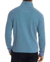 Robert Graham - Blue Easy Rider Quarter-zip Pullover for Men - Lyst