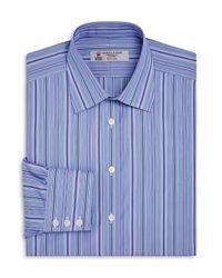 Turnbull & Asser | Blue Multi-striped Regular Fit Dress Shirt for Men | Lyst