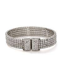 Aqua - Metallic Robin Glitzy Band Bracelet - Lyst