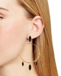 Gorjana - Metallic Palisades 18k Plated Black Onyx Drop Earrings - Lyst