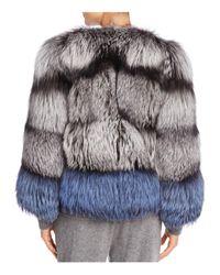 Maximilian - Black X Michael Kors Nafa Fox Fur Jacket - Lyst