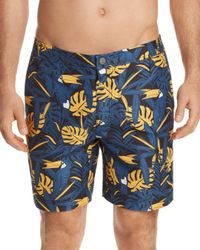 Onia - Blue Calder Incognito Toucan Swim Trunks for Men - Lyst