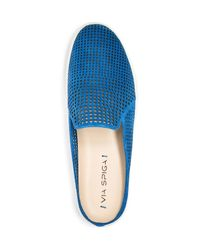 Via Spiga - Blue Rina Perforated Mule Sneakers - Lyst