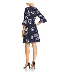 Kate Spade - Blue Night Rose Bell Sleeve Dress - Lyst