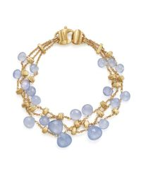 Marco Bicego - Metallic 18k Yellow Gold Paradise Chalcedony Three Row Bracelet - Lyst