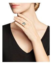 Marco Bicego - 18k Yellow Gold Lunaria Ring With Black Mother-of-pearl - Lyst