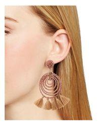 Aqua - Pink Spiral Tassel Drop Earring - Lyst