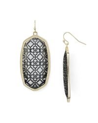 Kendra Scott - Metallic Filigree Elle Earrings - Lyst