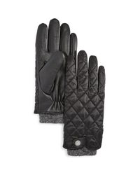 Polo Ralph Lauren | Black Quilted Field Glove for Men | Lyst