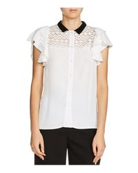 Maje - White Lanie Embellished Shirt - Lyst