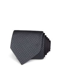 Title Of Work - Black Half Pattern Square Center Stripe Classic Tie for Men - Lyst