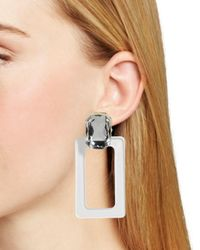 BaubleBar - Multicolor Luza Faceted Lucite Rectangle Drop Earrings - Lyst
