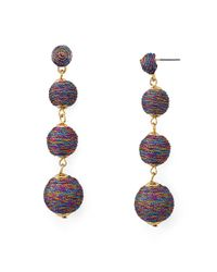 Aqua - Multicolor Ball Drop Earrings - Lyst