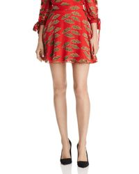 Alice + Olivia - Red Alice + Olivia Blaise Lips Burnout Mini Skirt - Lyst
