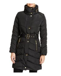 Cole Haan - Black Stand Collar Puffer Coat - Lyst