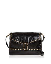 Marc Jacobs | Black Envelope Studded Leather Shoulder Bag | Lyst