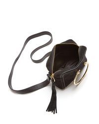MILLY - Black Astor Suede Camera Bag - Lyst