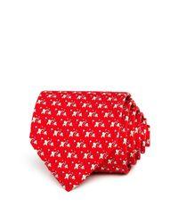 Ferragamo - Red Golfing Elephants Classic Tie for Men - Lyst