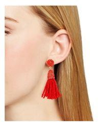 BaubleBar - Red Mini Piñata Tassel Drop Earrings - Lyst