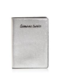 Rebecca Minkoff - Metallic Adventure Awaits Leather Passport Case - Lyst