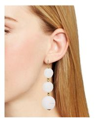 BaubleBar - White Crispin Drop Earrings - Lyst