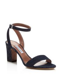 Tabitha Simmons - Blue Women's Leticia Denim Ankle Strap High-heel Sandals - Lyst