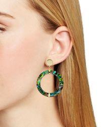 Argento Vivo - Metallic Abalone Frontal Hoop Drop Earrings In 18k Gold-plated Sterling Silver - Lyst