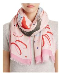 Kate Spade - Pink Champagne Oblong Scarf - Lyst