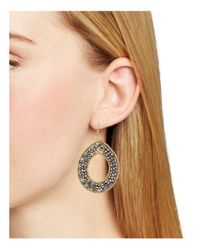 Aqua | Metallic Teardrop Earrings | Lyst
