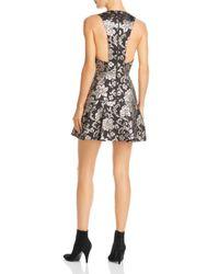 Alice + Olivia - Black Alice + Olivia Marleen Metallic Floral Fit-and-flare Dress - Lyst