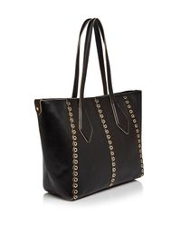 bdbb7b21c143 Lyst - Ivanka Trump Mercer Grommet Leather Tote in Black
