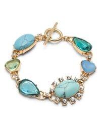 Carolee - Blue Multi Stone Bracelet - Lyst