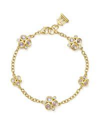 Temple St. Clair | Metallic 18k Yellow Gold Royal Blue Moonstone And Diamond Trio Bracelet | Lyst