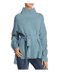 French Connection - Blue Reba Belted Sweater - Lyst