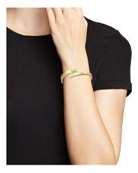 Ippolita - Metallic 18k Yellow Gold Sensotm Textured Surface Hinged Bypass Bracelet - Lyst