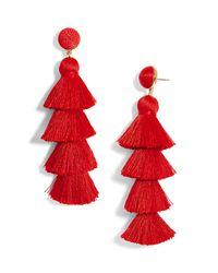 BaubleBar - Gabriela Tiered Tassel Earrings - Lyst