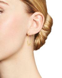 Bloomingdale's - Metallic 14k Yellow Gold Paisley Sweep Earrings - Lyst