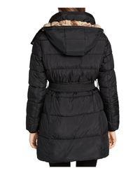 CALVIN KLEIN 205W39NYC - Black Faux Fur Lined Puffer Coat - Lyst