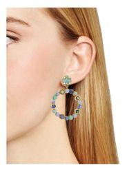 BaubleBar | Green Lavinia Hoop Earrings | Lyst