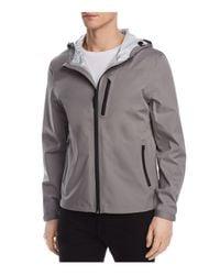 Cole Haan - Gray Waterproof Hooded Jacket for Men - Lyst